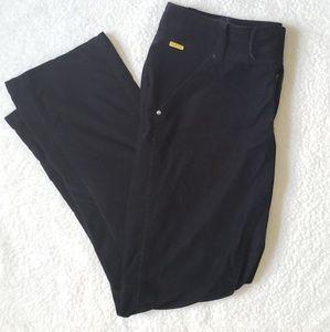 Lole Black Corduroy Straight Leg Jeans Size 14